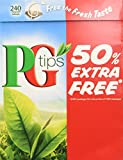 PG Tips Black Tea, Pyramid Tea, 240ct Boxes (Pack of 2)
