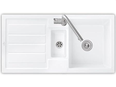 Villeroy & Boch 60 Ceramic Sink Basin Mat Installation Flavia White Snow White