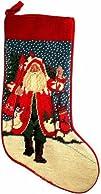 Winter Ski Lynn Haney Santa Needlepoint Christmas Stocking