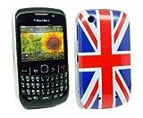 Kit Me Out ES - BlackBerry 8520 / 9300 Curve 3G Protección Cubierta De Piel / Case / Funda / Carcasa Super Slim Parte Bandera UK / De Inglaterra / Motivo Bandera Inglesa + LCD Película De Protección Pantalla