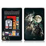 Kindle Fire Skin Kit/Decal - Three Wolf Moon - Antonia Neshev (will not fit HD or HDX models)