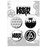 Linkin Park - Minutes To Midnight - Badge Pack - 4 x 38mm Badges