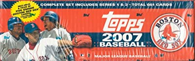 2007 Topps MLB Baseball Factory Sealed 661 Card Set Which Includes a Bonus Pack of 5 Unique Boston Red Sox Cards