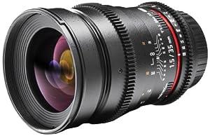 Walimex Pro - Obiettivo per fotocamera e videocamera 35mm f15 filettatura filtro 77mm per Nikon 1 obiettivo a baionetta