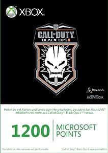 Xbox Live - 1200 Microsoft Points - im Design von Call of Duty: Black Ops II