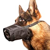 "Adjustable Dog Grooming Muzzle - MEDIUM, fits snout size 6""-7 1/2"", by Downtown Pet Supply"