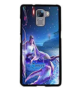 PRINTVISA Zodiac Cancer Case Cover for Huawei Honor 7