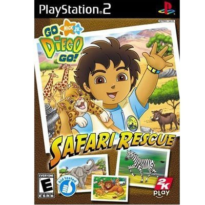 Go Diego Go: Safari Rescue - Playstation 2 front-123540