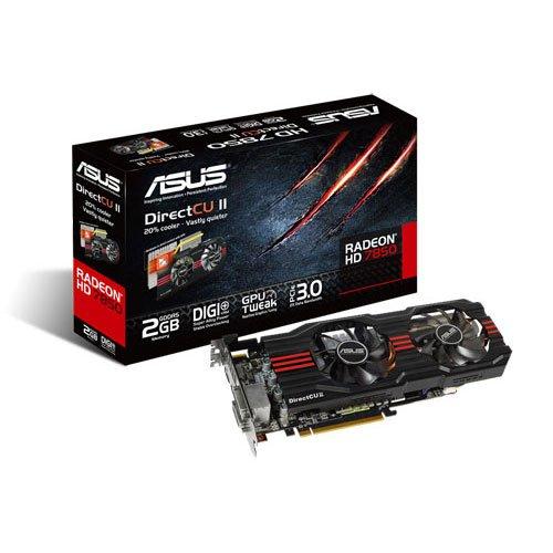 Asus AMD Radeon HD 7850 DirectCU II Graphics Card (2GB GDDR5, PCI Express 3.0)