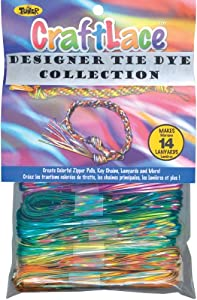 Craft Lace 25 Feet 12/Pkg-Tie Dye