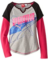 PUMA Big Girls' Cuffed Raglan Slider