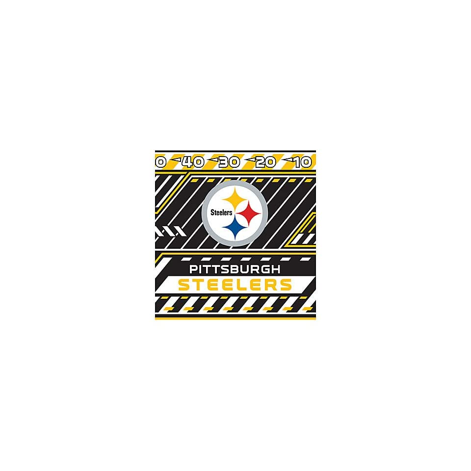 PITTSBURGH STEELERS Team Logo & Colors Washable Stretchable BOOK COVER