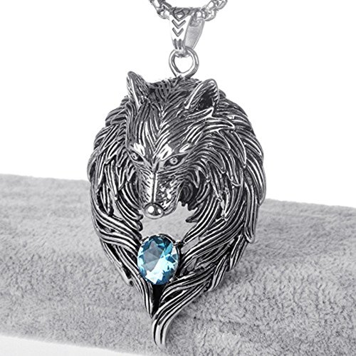 Amazoncom wolf necklaces for men