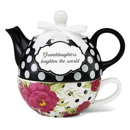 Pavilion Gift 49003 You And Me Tea For One Teapot Set By Jessie Steele