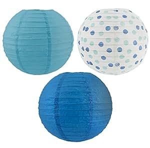 1 X Paper Lanterns Baby Shower Blue