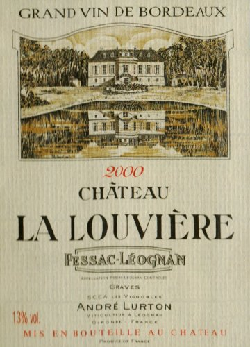 2000 Chateau La Louviere Bordeaux Red Blend Pessac-Leognan 1.5 L