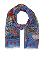 Moschino cheap and chic Bufanda (Cielo / Rojo)