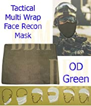 Tactical Multi Wrap Recon Face Mask Bandana Scarf OD Green