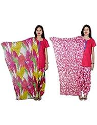 Indistar Women's Cotton Patiala Salwar With Dupatta Combo (Pack Of 2 Salwar With Dupatta) - B01HROGRP8