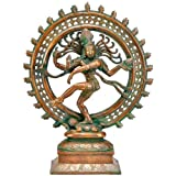 """Redbag Lord Nataraj Shiva - Brass Statue ( 13.75""""H X 11""""W X 3.75""""D )"""