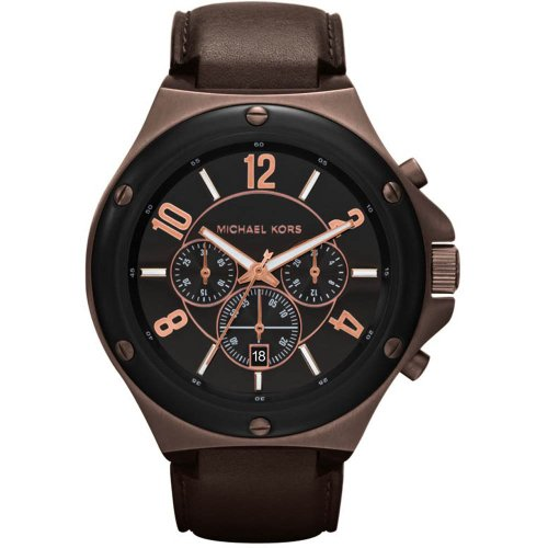 Michael Kors MK8273 Mens Chronograph Leather Strap Watch