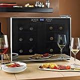 Wine Enthusiast Silent 12 Bottle Touchscreen Wine Refrigerator (2-Temp