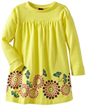 Tea Collection Baby-Girls Newborn Graphic Shirt Dress, Citrine, 6-12 Months