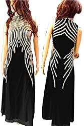 SkyheartFashion by Women's Unique design Black Gown