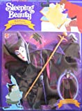 Disney Sleeping Beauty MALEFICENT Mask & Costume Playset For Barbie & 11.5 Fashion Dolls (1991)