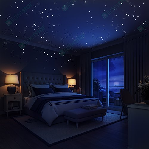 30 off glow in the dark stars wall stickers 252 dots and moon for starry sky perfect for - What can girl room look like ...
