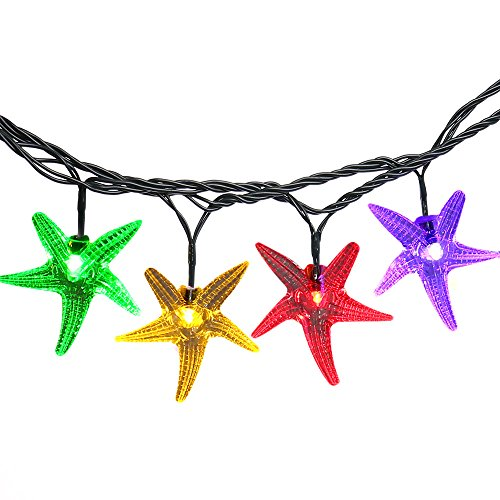 LUCKLED Starfish Solar String Lights, 20ft 30 LED Fairy Decorative Christmas Lighting for Indoor and Outdoor, Home, Lawn, Garden, Wedding, Patio, Party, and Holiday Decoratioms (Multi-Color) (Little Windows Brilliant Resin compare prices)