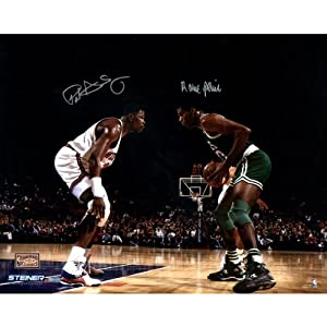 Buy Robert Parish Face Up with Patrick Ewing Dual Signed 16X20 photo by Steiner Sports