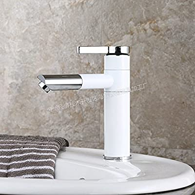 Ling@ Sanitary Ware Bathroom Basin Cold Water Mix Of Water Taps Stylish Grill White Painted