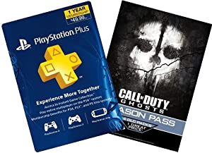 Call of Duty Ghosts Digital Bundle: Season Pass + 1-Year PS Plus - PS3 / PS4 [Digital Code]