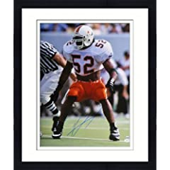 Framed Ray Lewis Autographed Miami Hurricanes Photo - 16x20 - Witness - JSA Certified...