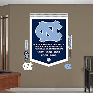 NCAA North Carolina Tar Heels Mens Basketball National Champions Banner Wall Graphic by Fathead