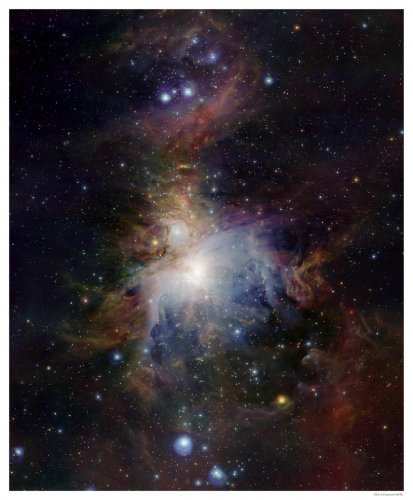 Astronomy Poster - Eso - Eso1006A - Vista'S Infrared View Of The Orion Nebula...