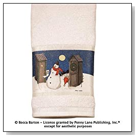 Holiday Outhouses Bath Towel