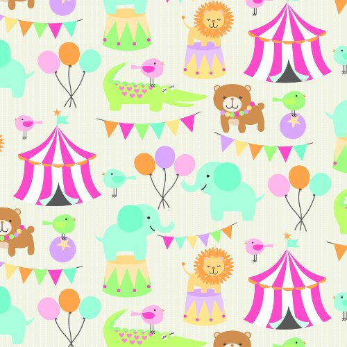The Gift Wrap Company Half Ream Wrapping Paper Roll, Circus Pals