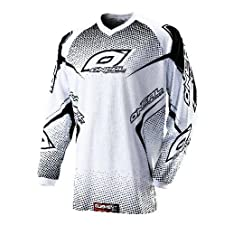 2012 O'Neal Youth ELEMENT JERSEY WHITE/BLACK EXTRA LARGE