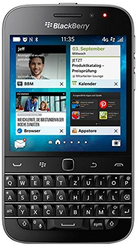 BlackBerry Classic Smartphone, 16GB, 4G, Nero [Germania]