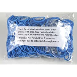 [Best price] Arts & Crafts - Twistz Bandz Latex Free Rubber Band Refill + C-clips - Ocean Blue - toys-games