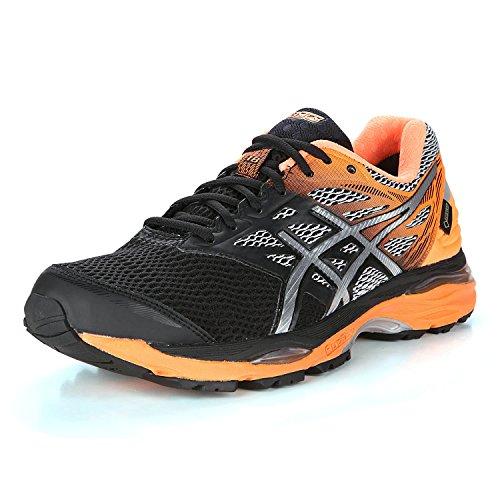 asics-mens-gel-cumulus-18-g-tx-competition-running-shoes-black-black-silver-hot-orange-9-uk