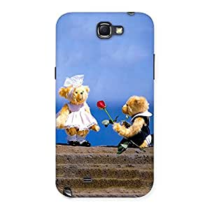 Stylish Proposal Teddy Multicolor Back Case Cover for Galaxy Note 2