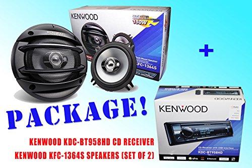 Package ! Kenwood Kdc-Bt958Hd Cd-Receiver + Kenwood Kfc-1364S Car Speakers