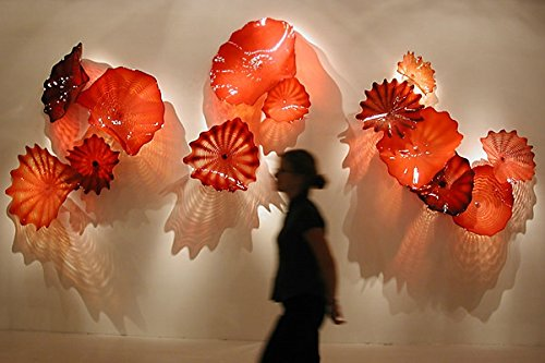 custom glass lotus leaf adornment handicraft Buy Chandelier Art Glass wall art hotel decoration
