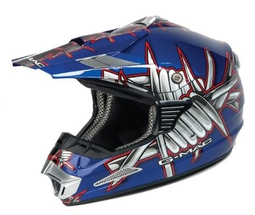 G Mac Slasher Mx Helmet (Blue) Xl