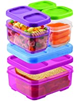 Rubbermaid LunchBlox Kids Tall Lunch Bag Kit, Purple/Pink/Green, 1866738