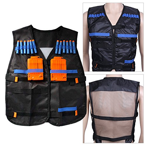 AllRight Nerf Tactical Vest With 12 Darts and 4 Ammo Clips For Strike Games