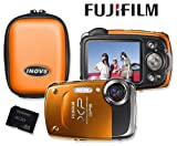 Fuji Finepix XP30 Orange Waterproof/Shockproof 14mp Digital Camera Bundle Including Matching Inov8 Hard Camera Case & Samsung 4GB Shockproof SDHC Class 4 High Speed Memory Card Picture